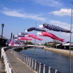 半田運河の鯉のぼり